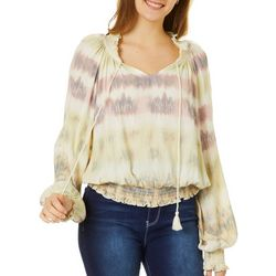 Be Bop Juniors Tie Dye Gauze Top