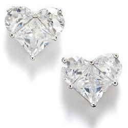 Bay Studio Cubic Zirconia Fancy Heart Stud Earrings