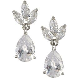 Bay Studio CZ Pear Teardrop Earrings