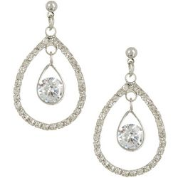 Bay Studio CZ Open Teardrop Post Top Earrings