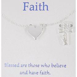 Gratitude & Grace Heart & Cross Necklace Set