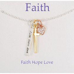Gratitude & Grace Three Tone Faith Necklace