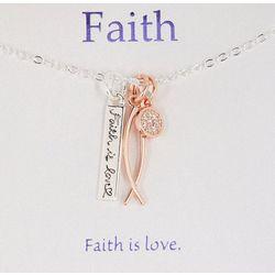 Gratitude & Grace Two Tone Faith Necklace
