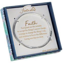 Footnotes Faith Silver Plated Twist Bracelet