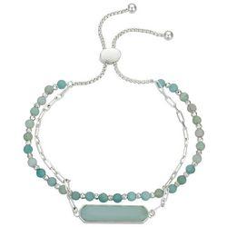 Footnotes Balance 2-Row Linear Charm Chain & Beaded Bracelet