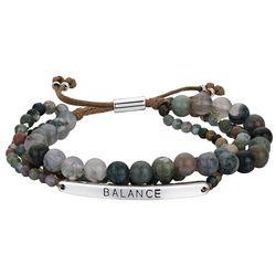 Footnotes Balance 3-Row Beaded Bracelet