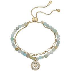 Footnotes Balance 2-Row Chain & Beaded Bracelet