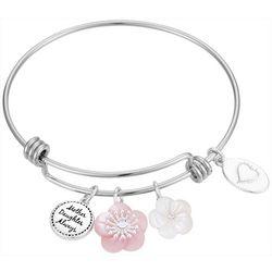 Footnotes Mother Daughter Charm Bangle Bracelet