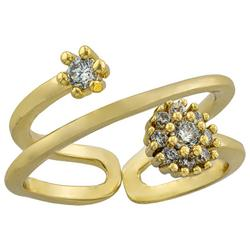 Cubic Zirconia Matte Spiral Fashion Ring