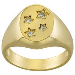 Cubic Zirconia Stars Fashion Ring
