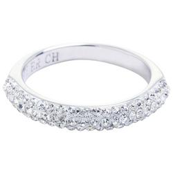 Boxed Crystal Elements Silver Tone Band Ring