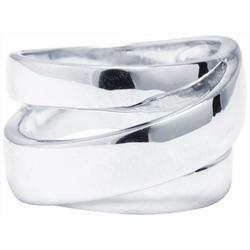 Silver-Tone Wrap Around Fashion Ring