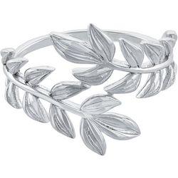 Ocean Treasures Silver-Tone Leaf Wrap Around Ring