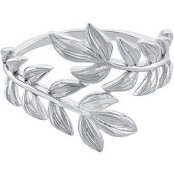 Silver-Tone Leaf Wrap Around Ring