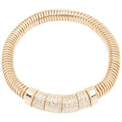 Nine West Gold Tone Rhinestone Embellished Bracelet