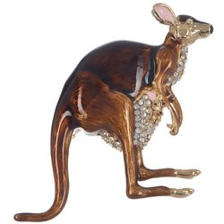 Napier Rhinestone Kangaroo Pendant