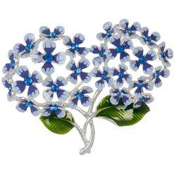 Napier Rhinestone Floral Heart Pendant