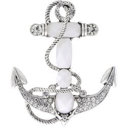 Napier Boxed Jeweled Anchor Pin