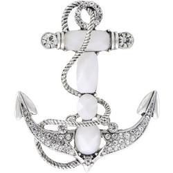 Boxed Jeweled Anchor Pin