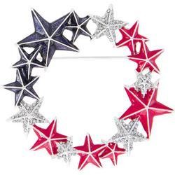 Americana Star Wreath Pin