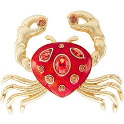 Rhinestone Crab Pin