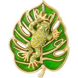 Enamel Frog On Lily Pad Pin