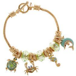 Napier Sea Life Charm Toggle Bracelet
