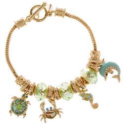 Sea Life Charm Toggle Bracelet