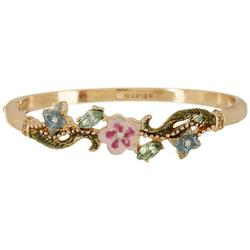 Enamel Floral Bangle Bracelet