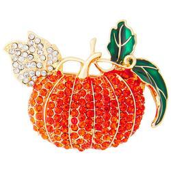 Rhinestone Harvest Pumpkin Pendant