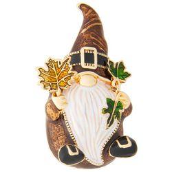 Napier Rhinestone Fall Gnome Pendant