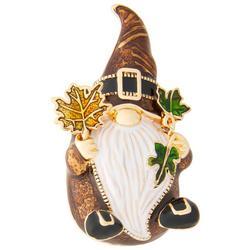 Rhinestone Fall Gnome Pendant