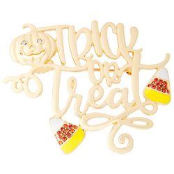 Napier Rhinestone Trick Or Treat Candy Corn Pendant
