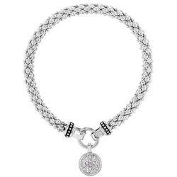 Nine West Pave Disc Charm Stretch Bracelet