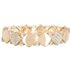 Nine West Rhinestone Square Gold Tone Bracelet