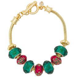 Napier Christmas Colored Charms Bracelet