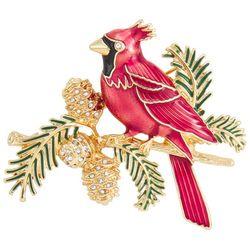 Napier Holiday Enamel Cardinal Pin