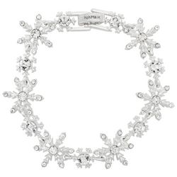 Napier All-over Rhinestone Chain  Bracelet
