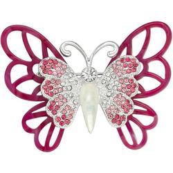 Enamel & Rhinestone Butterfly Pin
