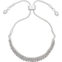 Nine West Boxed Rhinestone & Chain Slider Bracelet