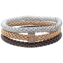 Nine West Boxed 3-pc. Tri-Tone Mesh Bracelet Set