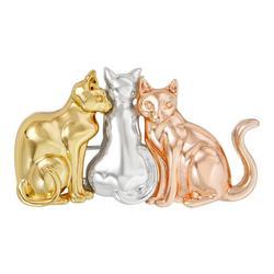Enamel Three Tone Trio Cat Pin