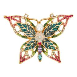 Crystal Butterfly Crystal Pin