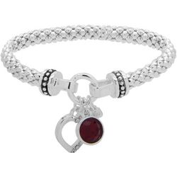 Nine West Heart Charm Stretch Bracelet