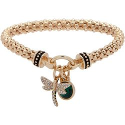 Nine West Dragongfly Charm Stretch Bracelet