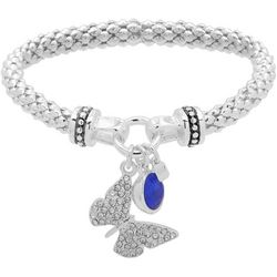 Nine West Butterfly Charm Stretch Bracelet