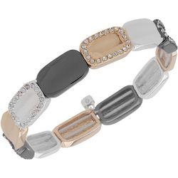 Nine West Boxed Tri Tone Stretch Bracelet