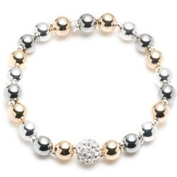 Nine West Tri Tone Beaded Stretch Bracelet
