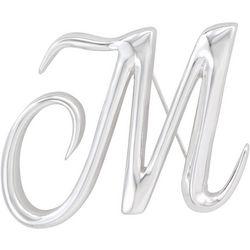 Napier Boxed Silvertone M Letter Pin