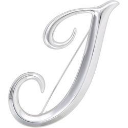 Napier Boxed Silvertone J Letter Pin